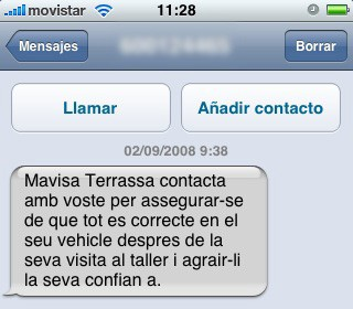 SMS de Mavisa